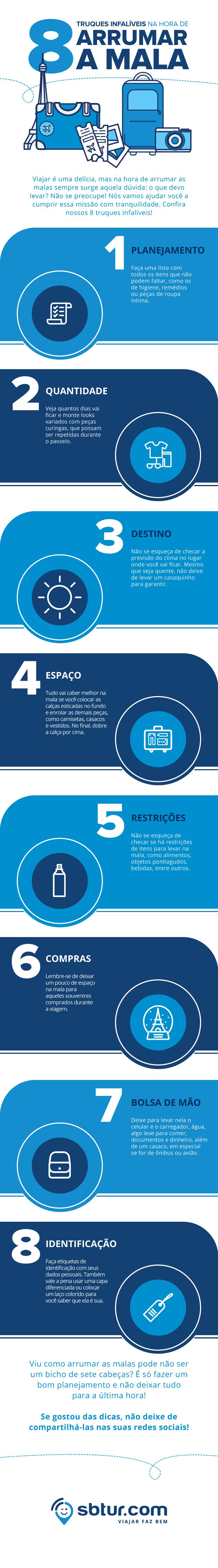 [infografico] 8 truques infalíveis na hora de arrumar a mala